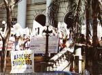 Manifestação em frente a Secretaria da Fazenda.